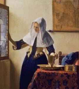 フェルメール「水差しを持つ女」1662-65年 油彩・キャンバス、45.7×40.6cm(メトロポリタン美術館)