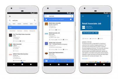 仕事もGoogle検索、求人情報検索機能「Google for Jobs」米国でリリースのサムネイル画像