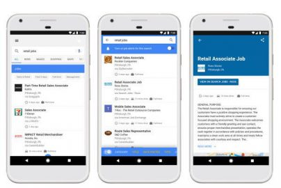 仕事検索もGoogleで? AI技術を利用した「Google for Jobs」が目指すものとはのサムネイル画像