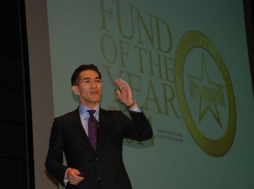 モーニングスター・FUND OF THE YEAR 2014 受賞記念セミナーで朝倉社長が「グレートローテーション」への対応を強調のサムネイル画像